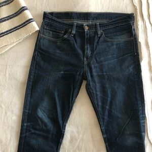 Levi 511 Straight Leg, Slim Distressed Jeans